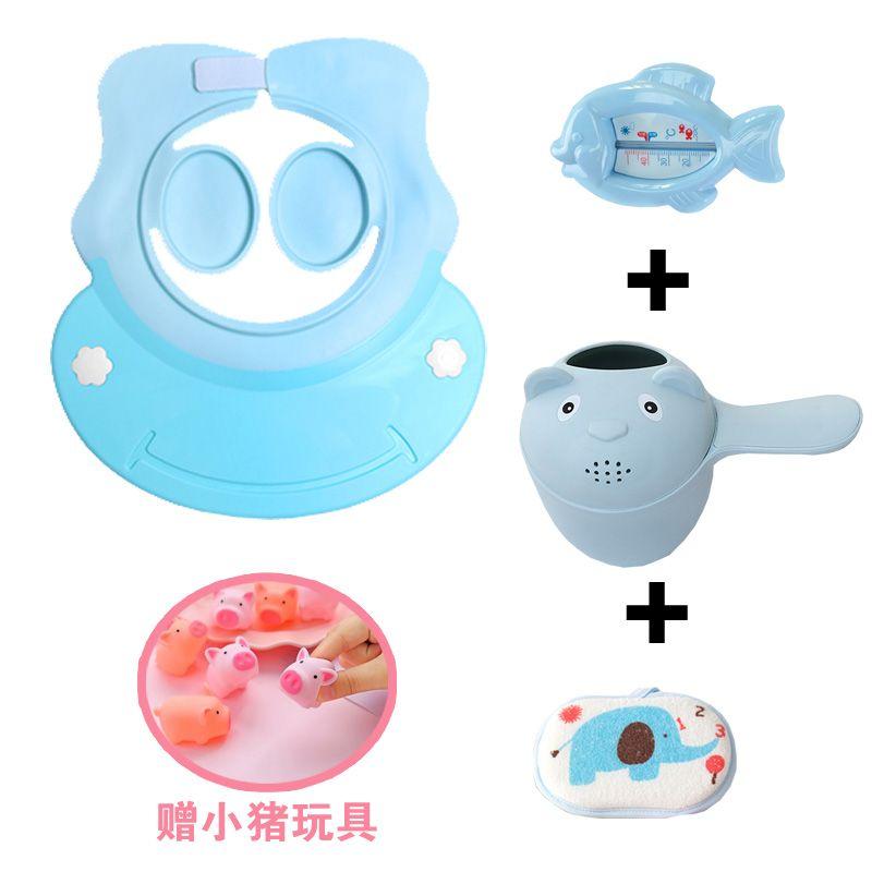 Baby Wash Hair hat infant waterproof silicone ear protectors shower cap Child shampoo hat children shower cap