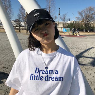 网红同款半袖短袖t恤女学生韩版宽松2020新款ins风上衣夏季衣服潮