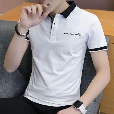 男士短袖t恤潮牌男装潮流半袖体恤男生修身衣服纯棉polo衫ins夏装