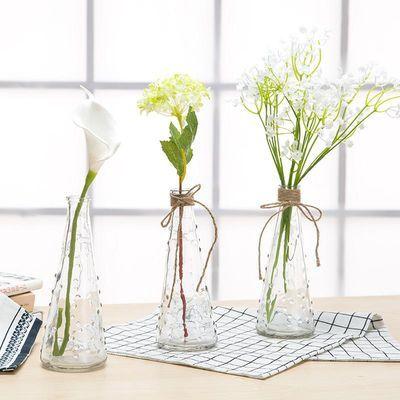 现代简约客厅创意插花摆件家用家居装饰品玻璃透明花瓶花艺摆设
