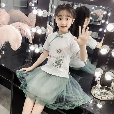 女童汉服套装中国风古装女童裙子民族服装小女孩夏装公主唐装复古