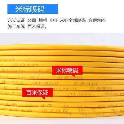 国标电线户外护套源家用二芯软缆牛筋防冻铜两众十平方铝六丝金杯