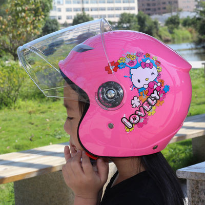 冬季安全帽儿童宝电动车半盔摩托头保暖四三级骑防撞锁配件女男夏