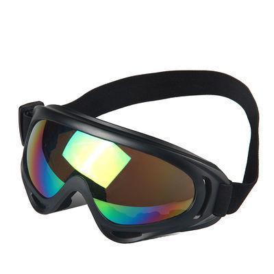 登山眼镜滑雪护目抗冲击单框猫耳看鱼顾昀防近视圆片墨色盲金有老