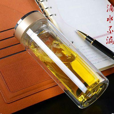 【破损包赔】双层玻璃杯加厚杯子男女学生大容量水杯茶杯保温家用