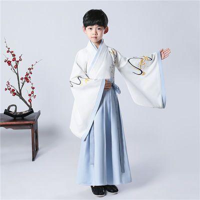 新款儿童汉服男童小男孩古装中国风男童古代服装小书童国学演出服