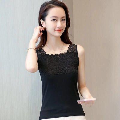 莫代尔蕾丝吊带背心女百搭短款修身上衣性感内外穿打底衫薄款