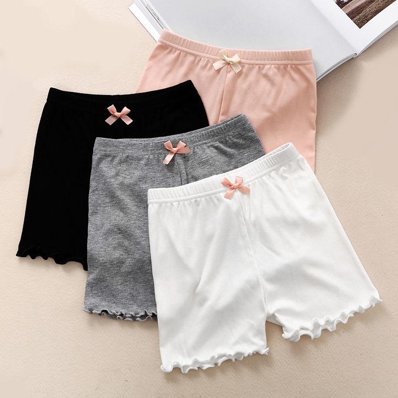女童莫代尔安全裤夏季小女孩三分保险裤中大童防走光儿童打底短裤