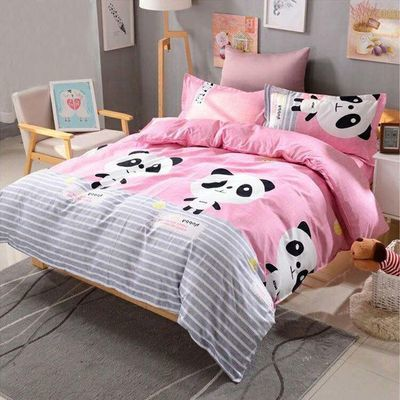 卡通被套单件两四纯棉床上4罩人小学生蚊帐儿童枕夏花家纺子布料