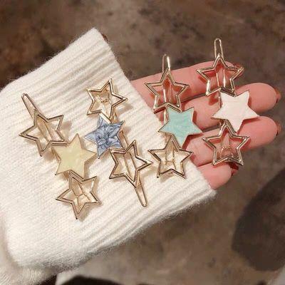 刘海夹发夹成人韩国星星成人女发卡一字夹顶夹边夹顶夹流海夹头饰