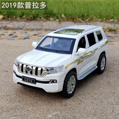 1:32丰田普拉多霸道SUV仿真越野合金车模金属玩具车摆件声光回力