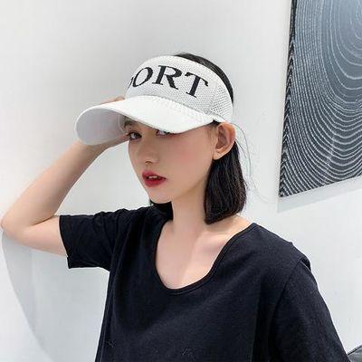 空顶帽男女夏天透气舒适遮阳帽太阳帽鸭舌帽户外运动帽跑步帽子