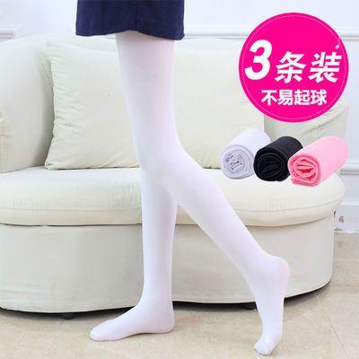 儿童连裤袜春秋薄款白色女童舞蹈袜丝袜六一表演袜子练功打底夏