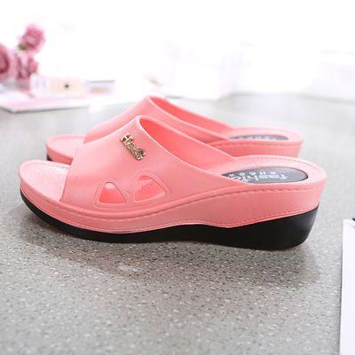 高跟凉拖鞋女士防滑厚底外穿时尚坡跟鞋女夏学生韩版社会新款2019
