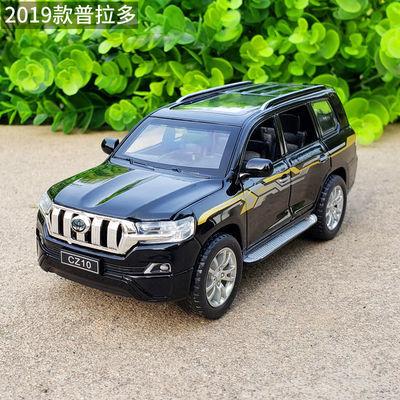 1:32丰田霸道普拉多2019款SUV合金车模型仿真金属车声光回力玩具