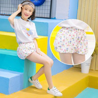 女童夏装雪纺短裤2019新款洋气童装中大童裙裤儿童薄款外穿五分裤