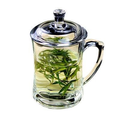 【加厚防裂】无铅耐热玻璃杯带盖杯家用杯子加厚泡茶水杯带把茶杯