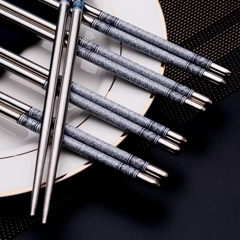 耐用10年,防霉不生銹:獅至 食品級304不銹鋼筷子 20雙