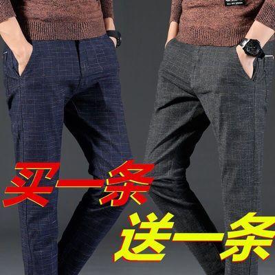 春夏季男士弹力休闲裤男装潮流韩版直筒商务修身小脚长裤子百搭