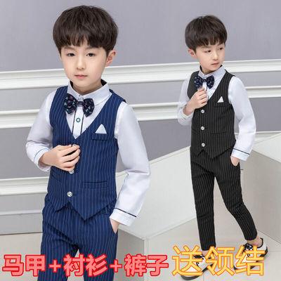 男童礼服套装2英伦3岁儿童马甲三件套4绅士5宝宝西装衬衫韩版花童