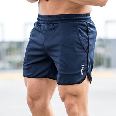 夏季运动修身短裤男宽松弹力大码休闲篮球健身透气速干系带五分裤