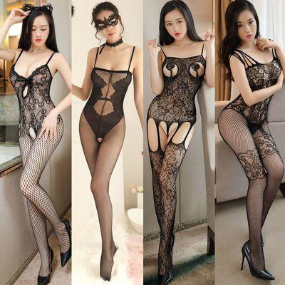 性感免脱透明大码开档极度诱惑制服睡衣连身网袜丝袜情趣内衣内裤