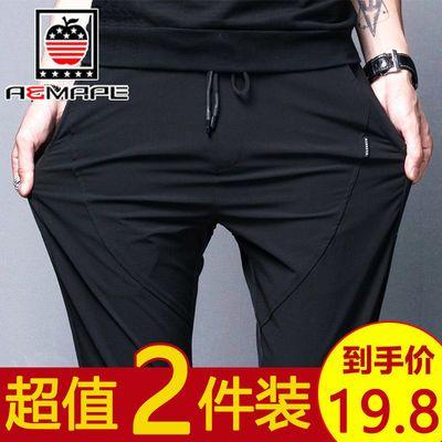 2019裤子男运动裤男士韩版潮流休闲裤男生修身小脚裤