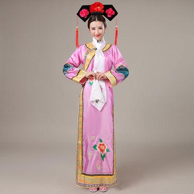 清朝还珠格格古装服饰演出服贵妃宫廷满族旗装写真格格服装古代女