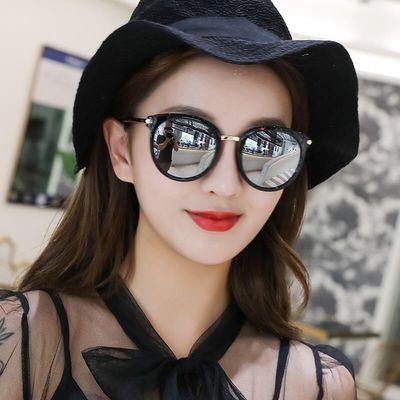 2020新款偏光女士太阳镜潮韩版明星眼镜圆脸大框防紫外线开车墨镜