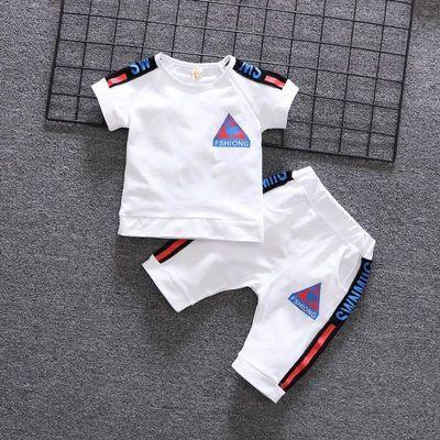 男童夏装2020新款儿童短袖短裤套装小童宝宝衣服两件套帅气童装潮