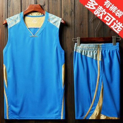 篮球服套装男夏季运动跑步比赛队服大码背心短裤青少年速干球衣男