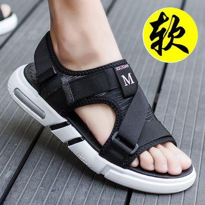 2020新款男士透气凉鞋男学生韩版潮流夏季青少年男款夏天沙滩鞋子