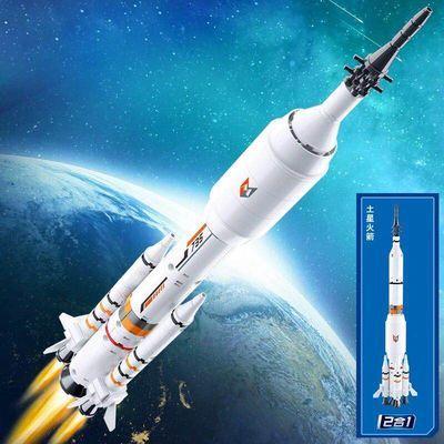 小鲁班国际空间站太空火箭飞船男孩益智拼装积木航天模型拼插玩具