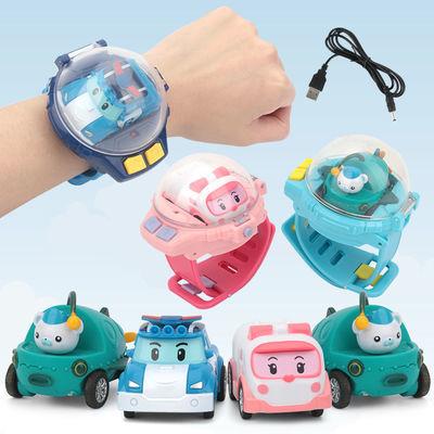 网红手表带遥控车感应赛车珀利社会人儿童电动玩具迷你遥控小汽车