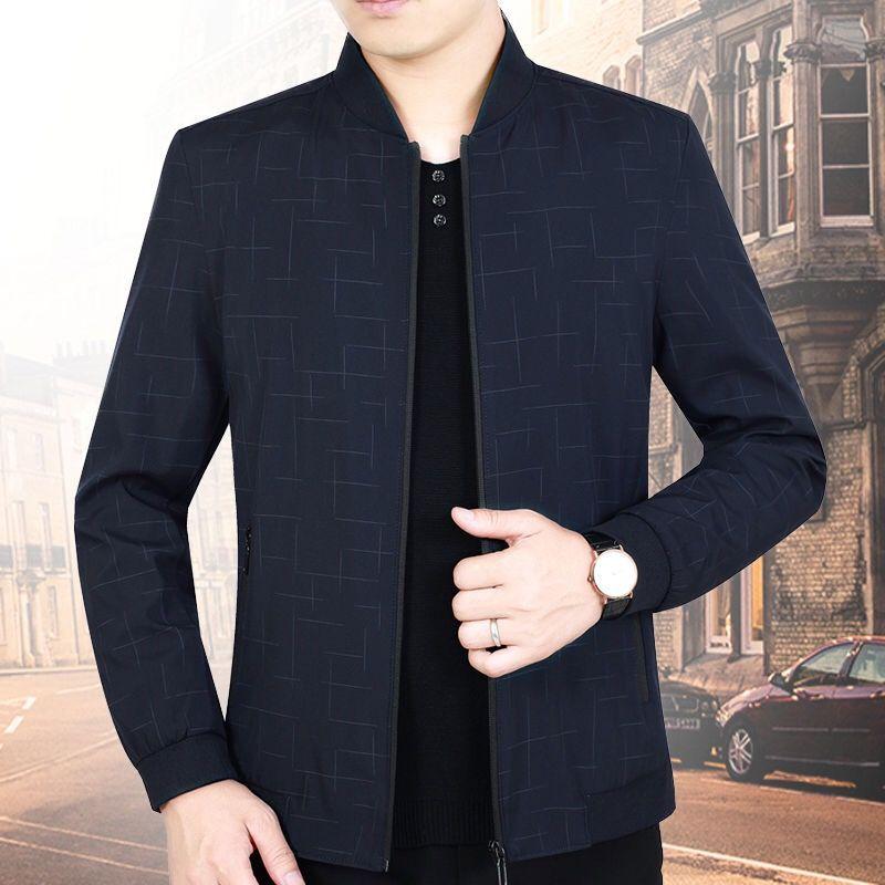 中老年外套男夏季薄款大码男装夏装中年男士上衣春季爸爸宽松夹克