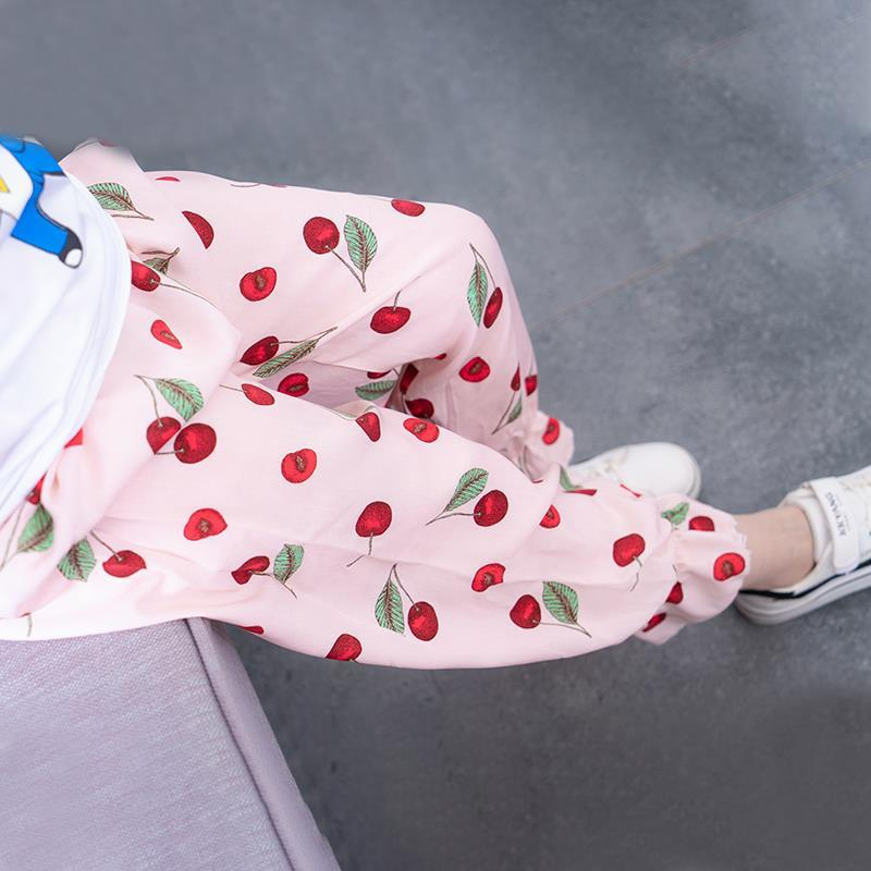 儿童棉绸灯笼裤儿童休闲长裤宝宝男童女童睡裤空调裤薄夏季防蚊裤