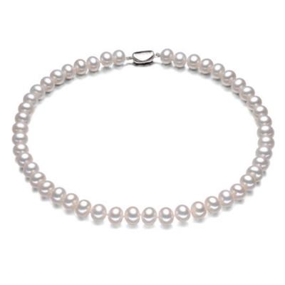 假一罚十 天然淡水珍珠项链白色10-11mm 正圆  送妈妈送婆婆