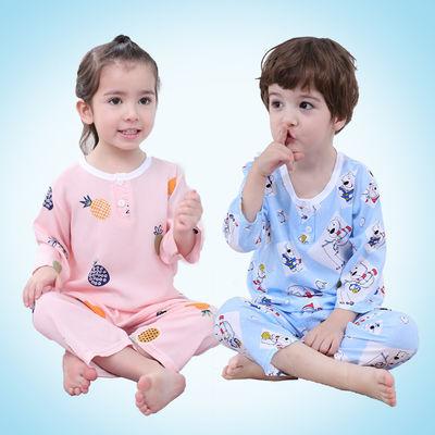 儿童睡衣服套装男童棉绸家居服夏季薄款女童宝宝婴儿小孩男孩夏装