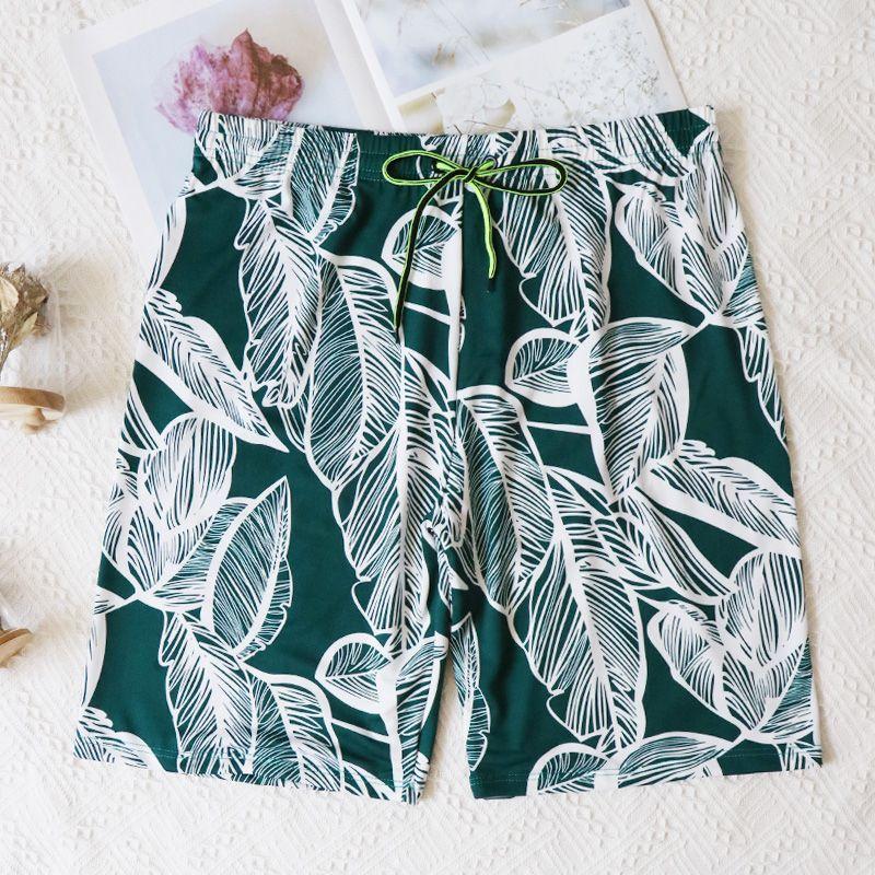 速干宽松沙滩裤男潮牌大码泰国海边度假五分泳裤套装短裤女平角裤