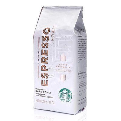 美国进口 门市同款 starbucks星巴克浓缩烘焙咖啡豆黑咖啡250克