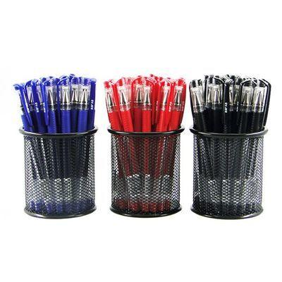 [买2送笔筒]中性笔96支/12支送50/30笔芯0.5mm黑色水笔签字笔圆珠