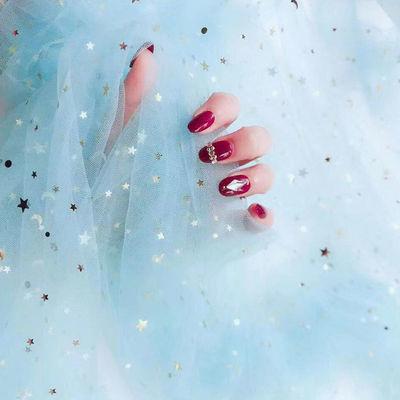 丝绸布料纱美甲饰品亮片棉麻做鞋红大扎染材网加厚纯白防水蕾花边
