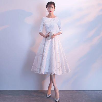 29105/宴会晚礼服裙女2021新款高贵气质姐妹团演出伴娘服成人礼平时可穿