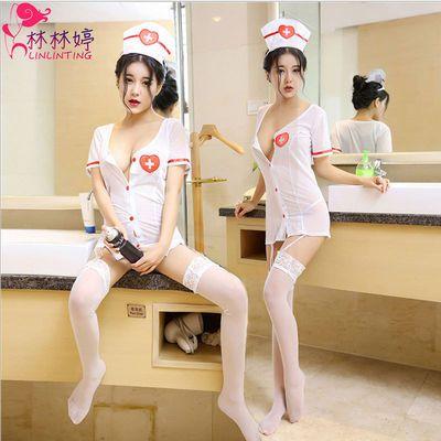 情趣内衣角色扮演性感女护士新品制服激情免脱极度诱惑半透明套装
