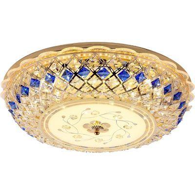 LED吸顶灯欧式圆形水晶卧室灯房间餐厅客厅婚房灯具走廊大厅灯饰
