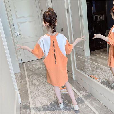 女童长款T恤夏2020新款8时尚短袖女儿童6-13岁中大童洋气体恤上衣