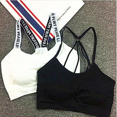 性感美背吊带裹胸抹胸文胸打底内衣女短款瑜伽运动小背心学生