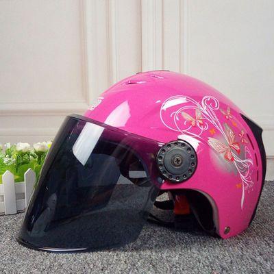 头盔新款时尚骑行车半哈雷四季情侣轻便式防晒可爱透气防紫外线