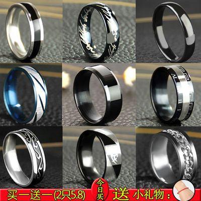 韩式戒指男个性装饰饰品霸气男士指环单身社会小伙气质女生戒指潮