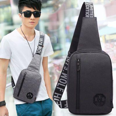 新款胸包男包韩版男士时尚休闲斜挎单肩包小包背包运动潮包包腰包